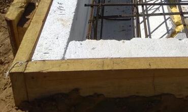 Монтаж опалубка для плитного фундамента