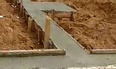 Заливка бетоном ростверк