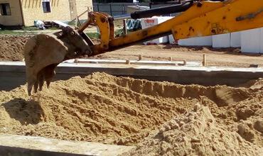 Подготовка песчаного основания под плиту