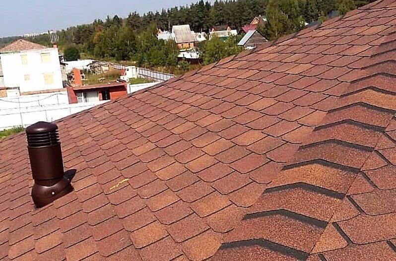 Монтаж гибкой черепицы на крышу дома