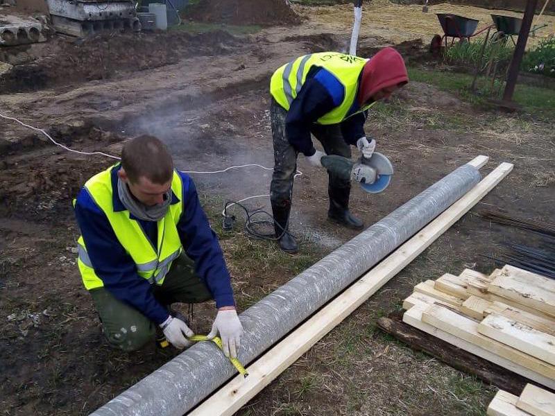 Подготовка асбесто цементной трубы