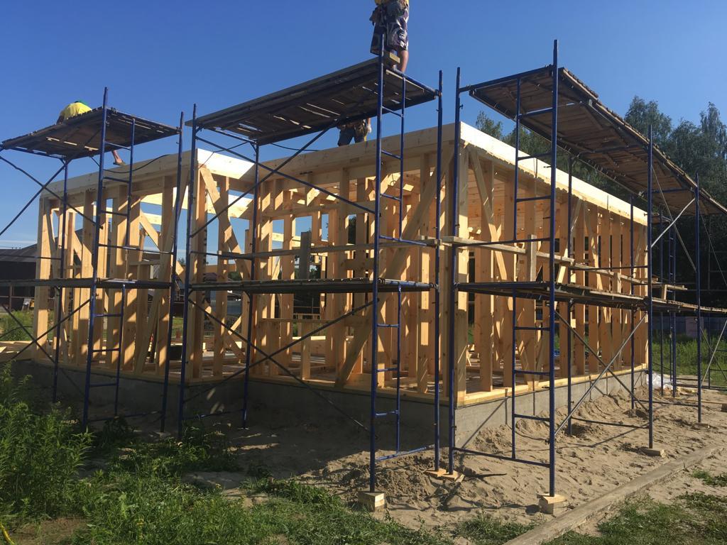 Фото проектов строительства каркасных домов