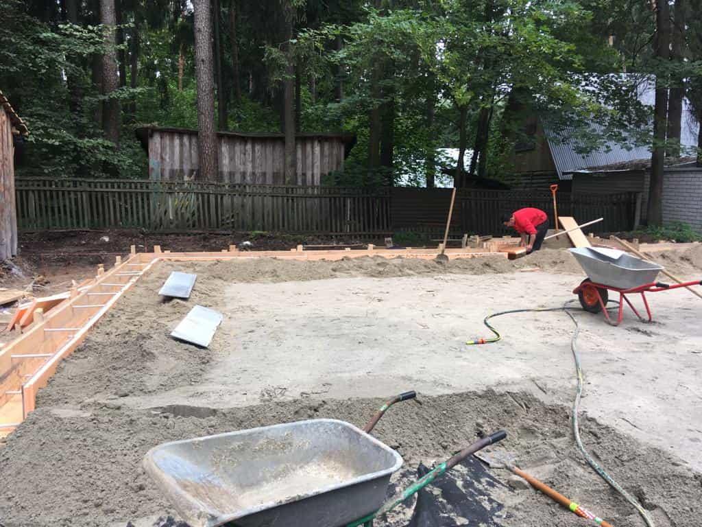плитный фундамент с ребрами жесткости утрамбовка песка