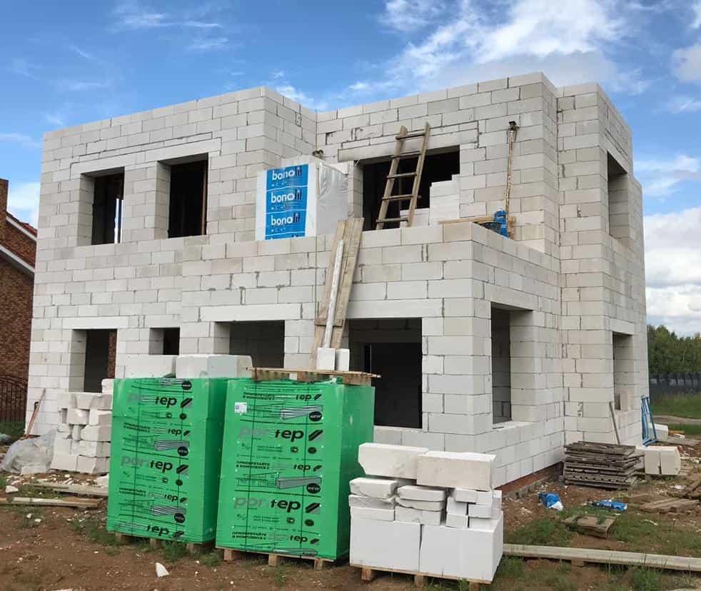 строим дом из газобетона под ключ в московской области
