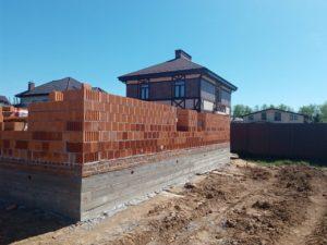Строительство коттеджа из керамического блока