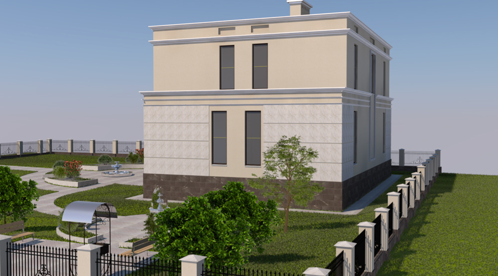 Проектирование загородных домов и коттеджей. Вид 3