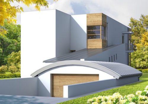 Загородный дом с цоколем